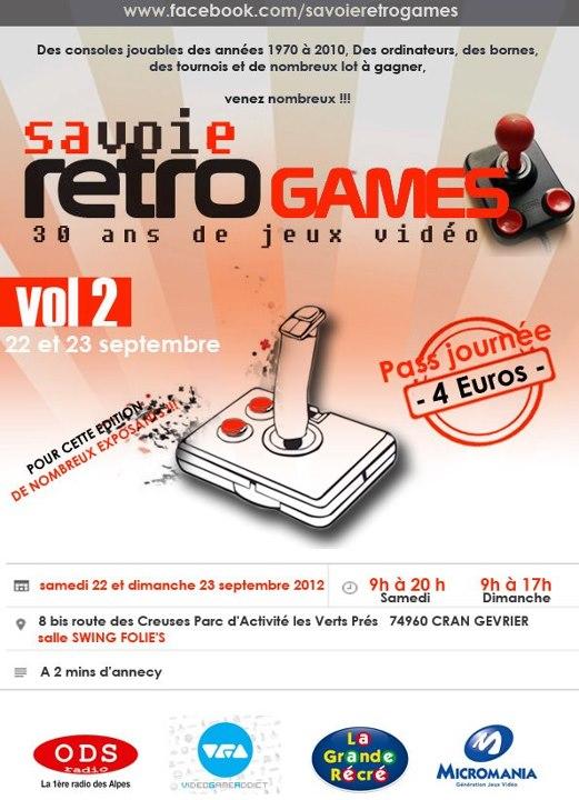 SAVOIE RETRO GAMES VOL 2 – 22 et 23 septembre 2012 à Annecy