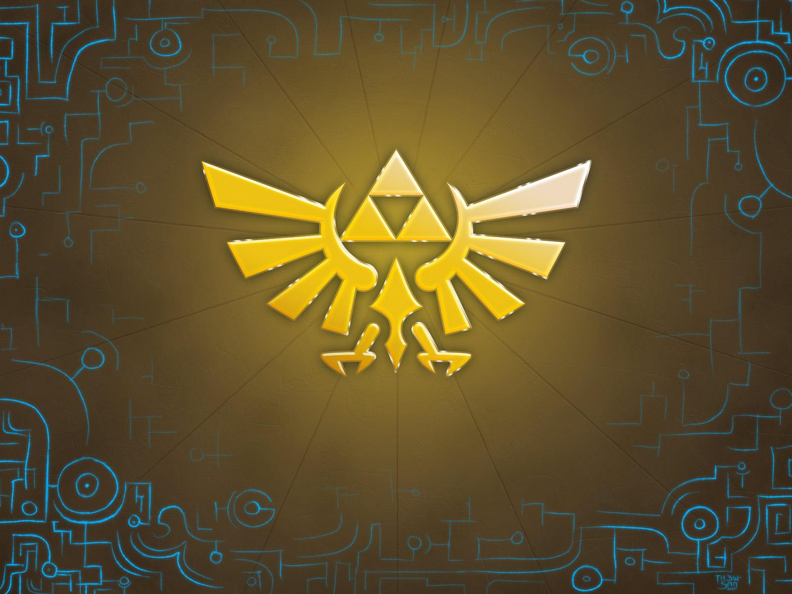 Zelda wallpaper fond ecran triforce jeux video info for Ecran wallpaper