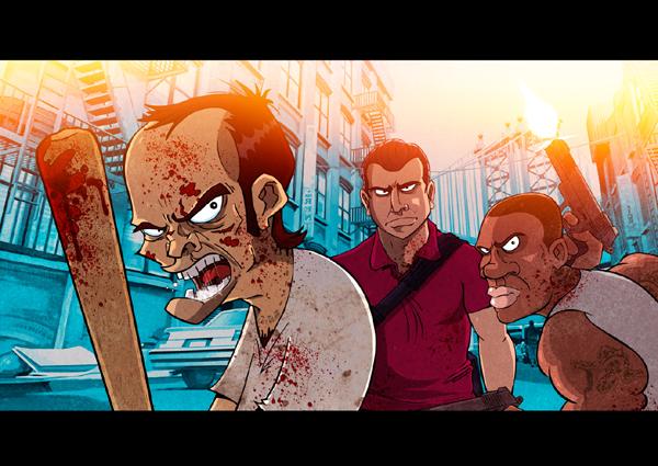 Illustration GTA V par  Nicolas Mazière