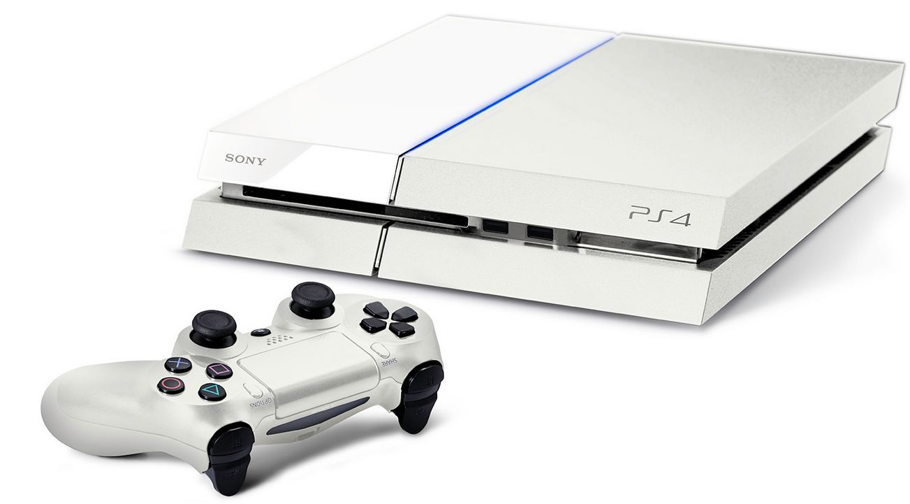 Des images de la Playstation 4 en blanc