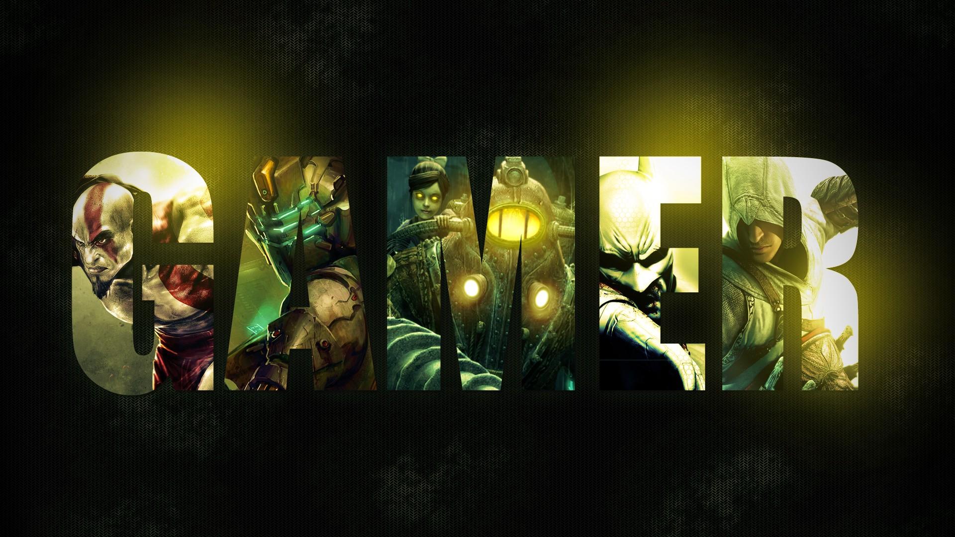 Wallpaper Pc Gamer Noir Jaune Vert Jeux Video Info