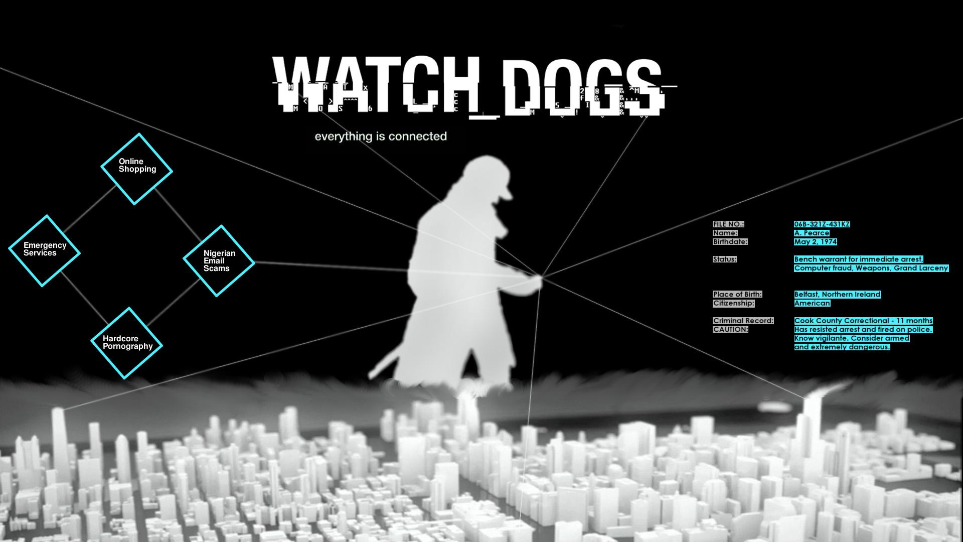 Watchdog Phone Wallpaper Watch Dogs Ecran Noir