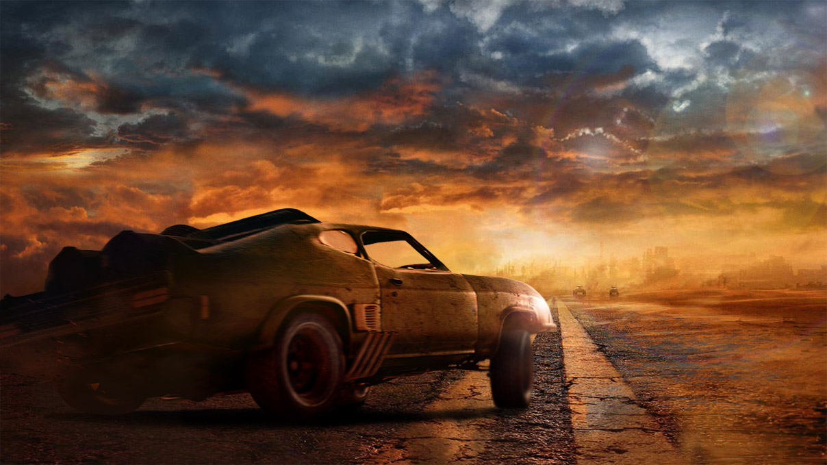 mad max voiture sur paysage jeux video info. Black Bedroom Furniture Sets. Home Design Ideas