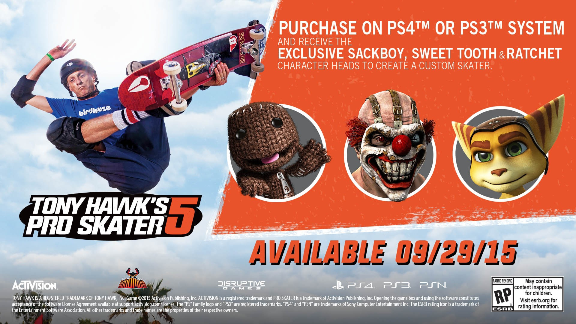Tony Hawk Pro Skater 5 Personnages speciaux en bande annonce
