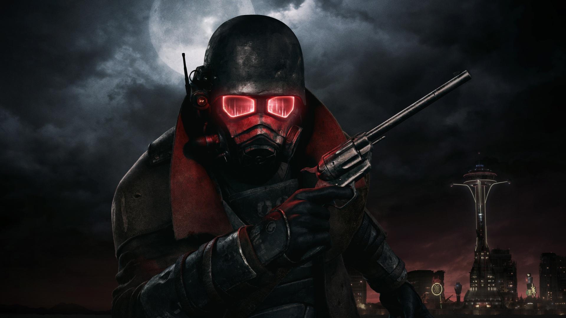 fallout-art-fond-ecran-gun-et-homme-noir-rouge – Jeux ...