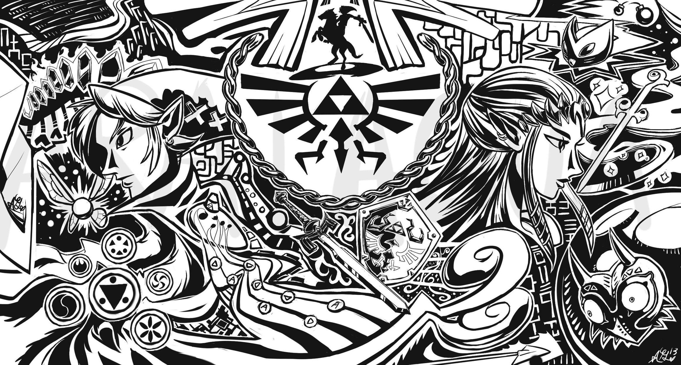 Gallery For gt Zelda Art Triforce