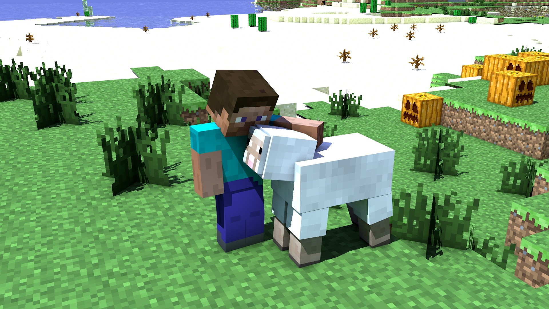 ... mouton [ Fond d'écran Minecraft gratuit de Steve alias Jean-Kevin