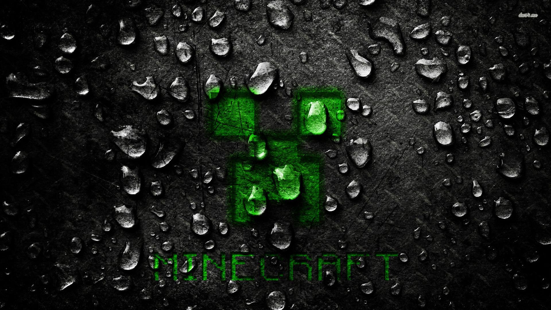 minecraft creeper fond ecran eau jeux video info. Black Bedroom Furniture Sets. Home Design Ideas
