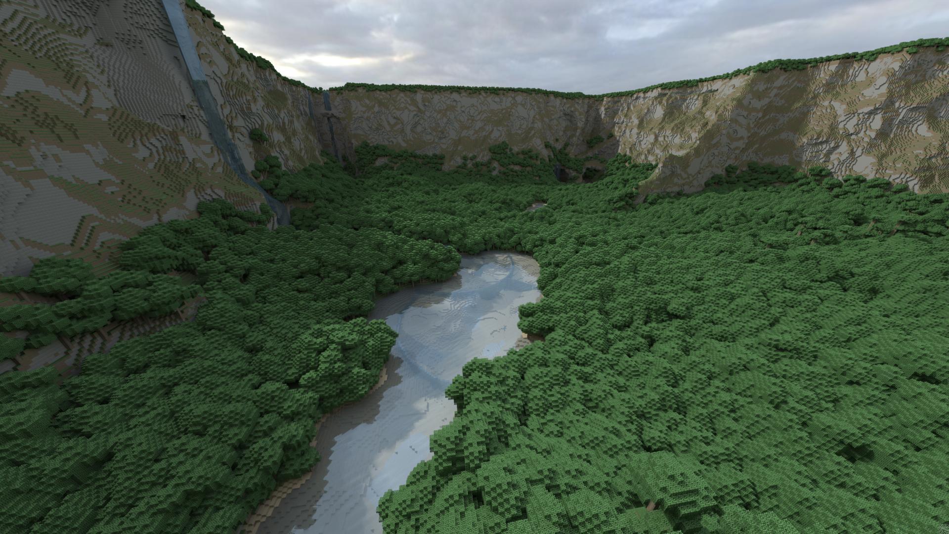 Fond d'écran Minecraft Gratuit de paysage