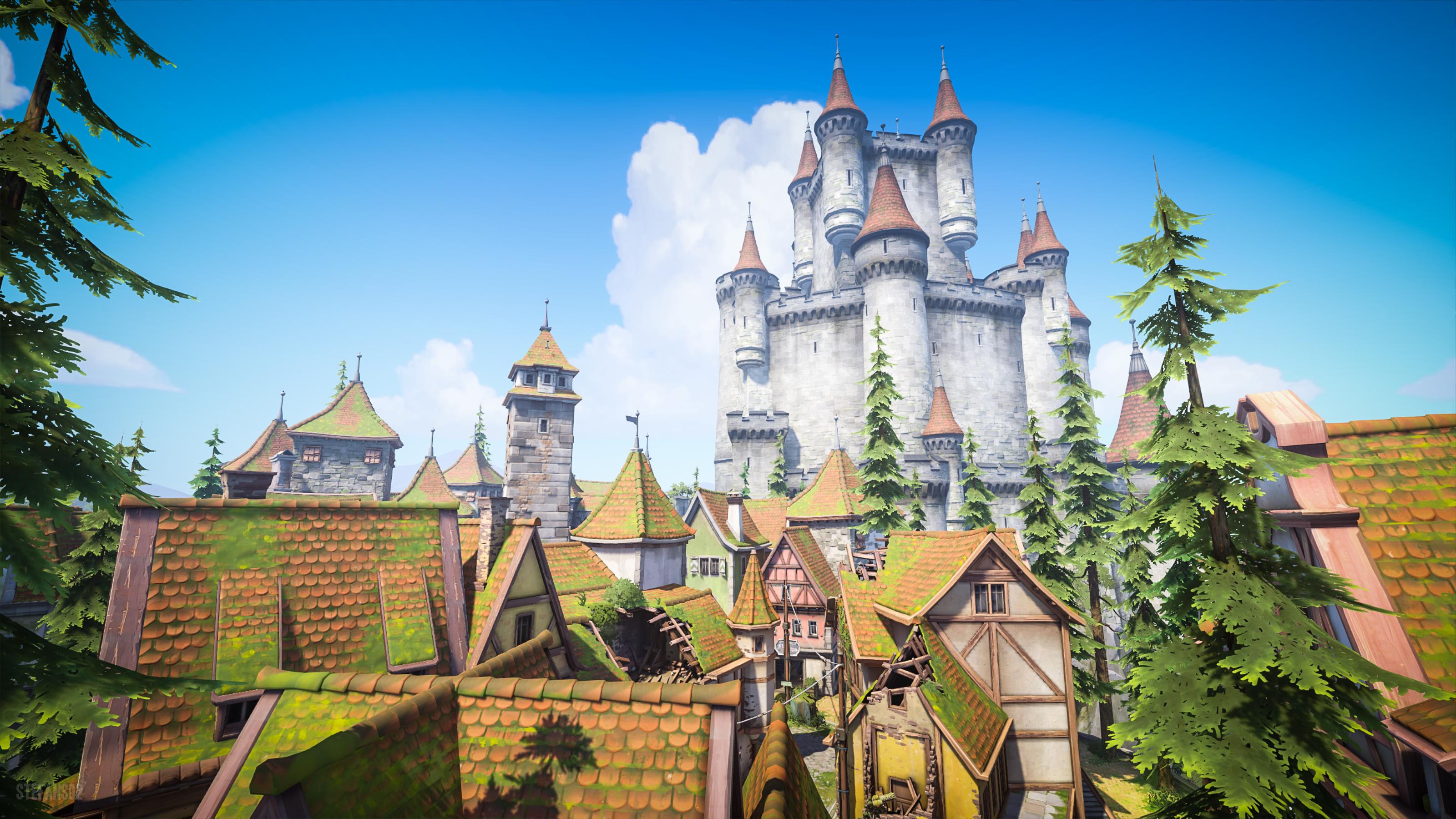 Overwatch World Fond Ecran Chateau Fort Jeux Video Info